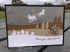 Jingle All the Way with Sleigh Ride Edgelit Dies by Carolina Evans - Cards and Paper Crafts at Splitcoaststampers