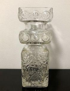 Tamara Aladin 'Kehrä' Vase (25 cm tall) - Finnish Vintage Glass Design from Riihimäen lasi, Finland