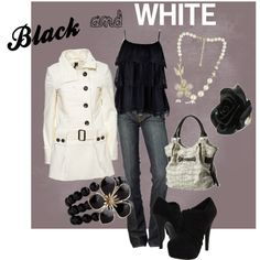 A fashion look from March 2012 featuring Topshop coats, 7 For All Mankind jeans and ZiGiny ankle booties. Browse and shop related looks. Denny Rose, Black And White Love, White Style, Fashion Outfits, Womens Fashion, Fashion Clothes, Fashion Ideas, Swagg, Passion For Fashion