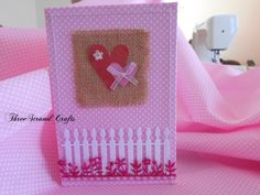 ThreeStrandCrafts PINK FABRIC CARD 01 Fabric Cards, Pink Fabric, Homemade Cards, Crafts, Handmade, Hand Made, Diy Cards, Craft, Crafting