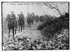 British Cavalry passing thro' wrecked village (LOC) | por The Library of Congress