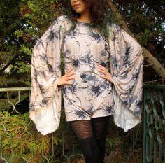 women tunic dress top oversize long sleeves geisha by Youshky, $49.00