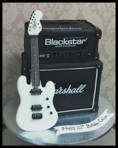 Guitar and Amp Cake - http://cakesdecor.com/cakes/252520-guitar-and-amp-cake