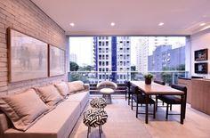 """""""Varanda continuação sala de estar"""" @suite_arquitetos @amyengenharia"""
