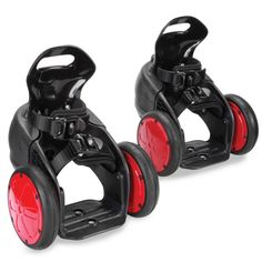 The folks at Hammacher Schlemmer are practically DARING you to commute to work in these things or at least raise the technological bar at your roller derby games.