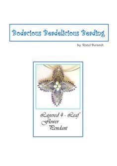 3Layered Flower Beaded Pendant Tutorial by Beadebonair on Etsy, $7.50