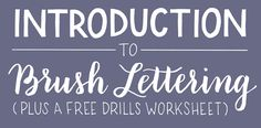 Brush lettering is a favorite technique among lettering artists for their ability to achieve high contrast letters. But, there can be a learning curve!