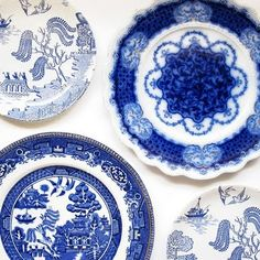 My china is going to be a collection of different blue plates - and I'm excited!