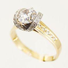 Pierścionek z diamentem, cyrkonią, zaręczynowy, BM Rzeszów