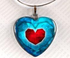 Piece of Heart Pendant, Legend of Zelda Inspired Heart Necklace