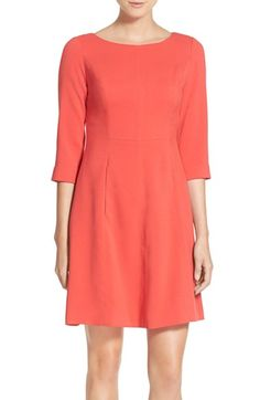 Vince Camuto Crepe A-Line Dress (Regular & Petite) - $148 - available at #Nordstrom. I swear it looks cuter in every other picture, and they have it in so many colors! Green to wear to hockey games in the President's Box?