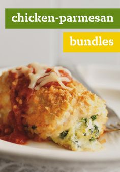 Chicken-Parmesan Bundles – Chicken Parmesan is even more delicious when it's turned inside out and wrapped around a melty cheese center. Try out this recipe on your dinner table, tonight.