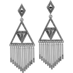 House of Harlow 1960 Golden Hour Fringe Earrings ($78) ❤ liked on Polyvore featuring jewelry, earrings, silver, house of harlow 1960 jewelry, fringe jewelry, golden jewelry, earrings jewelry and golden earring