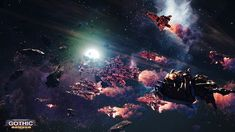 Battlefleet Gothic: Armada is the RTS videogame adaptation of Games Workshop's classic tabletop game, pitting the Chaos, Imperium, Eldar, and Orks against each other in visceral space-battles. Armada Game, Battlefleet Gothic Armada, Battle Fleet, Gothic Elements, Different Races, Space Battles, Game Workshop, Unreal Engine, Space Marine