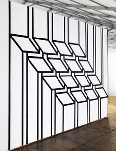 """Optiprism"" by Aakash Nihalani | Geometric Tape Installations"