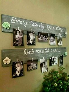Wood pallet picture holder #DiyProjects
