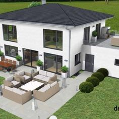 Best Garden Decorations Tips and Tricks You Need to Know - Modern Modern Architecture House, Futuristic Architecture, Sustainable Architecture, Interior Architecture, Facade House, House Facades, House Exteriors, Large Homes, Exterior Design