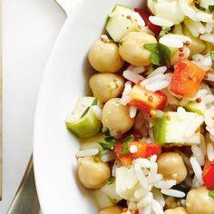 Salade de riz aux pommes et au poivron