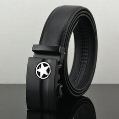 Belt New Designer Automatic Buckle Cowhide Leather men belt 110cm-130cm Luxury  belts for men bfbf6afde2f