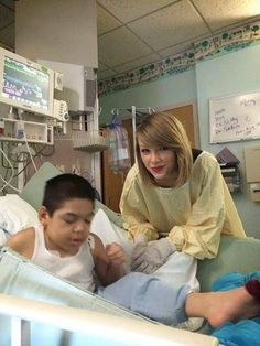 You might be pleasantly shocked to learn that #1 finds the time to visit her fans at the Children's Hospital
