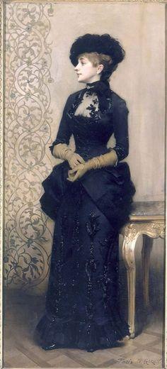 """""""La Parisina"""" -Charles-Alexandre Giron 1883."""