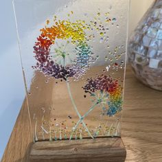 Fused Glass Art, Glass Vase, Oak Worktops, Wooden Display Stand, Neurone, Glass Art Pictures, Glass Garden, Picture Sizes, How To Raise Money