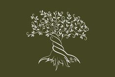Vector olive tree silhouette by provector on Creative Market Vector olive tre Tree Illustration, Pencil Illustration, Tree Silhouette, Silhouette Vector, Olive Tree Tattoos, Tree Outline, Tree Sketches, Tree Logos, Little Christmas Trees