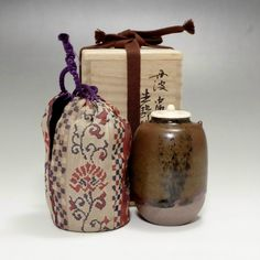 Tamba Chaire - Japanese Signed Pottery Tea Caddy #1978 - ChanoYu online shop