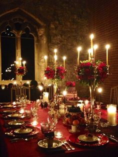Red Winter Wedding   Private Dining Event at Pentney Abbey, Norfolk, UK
