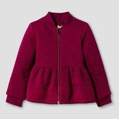 Toddler Girls' Peplum Bomber Jacket - Red - Genuine Kids from Oshkosh™. Image 1 of Toddler Girl Outfits, Toddler Fashion, Kids Outfits, Kids Fashion, Toddler Girls, Baby Girls, Little Girl Fashion, Little Girl Dresses, Kids Coats