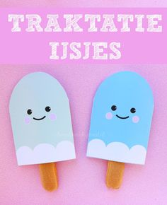 traktatie ijsjes met gratis printable