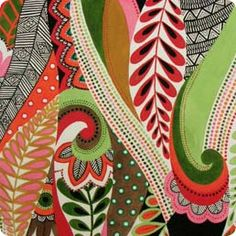 i love this fabric for this folding chair i'm alledgely going to make:  African Leaves & Patterns