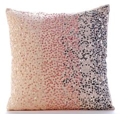 Designer Pink Pillow Covers 16x16 Silk Pillows by TheHomeCentric