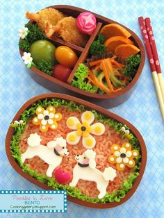 Cooking Gallery: Poodles in Love Bento