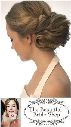 Bruidskapsels en bruidsvisagie: The Beautiful Bride Compagny - Pinterested @ http://wedspiration.com.