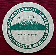 Beer Coasters, Kilimanjaro, Beer Labels, East Africa, Tanzania, Beer Bottle, Lions, Bottles, Patches