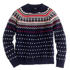 Lambswool Seaspey Fair Isle sweater - Grandpa sweaters for all the men out there!