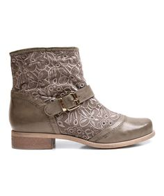 Gray Too Duke Ankle Boot by Two Lips Too #zulily #zulilyfinds // lace-pique-mesh type upper