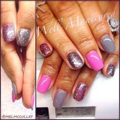This mani is so sweet it's giving me a toothache!  #wellmanicured #gelishtrends #snowescape #gelish #nails #nailartist #nails2desire #nailfashion #glitternails #glitter #pink #love #ilovenails #manhattanbeach #hermosabeach #intheheartofthesouthbay #la #gel #gelnails #acrylic #Padgram