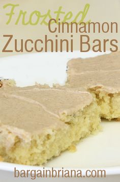 Frosted Cinnamon Zucchini Bars  - YUM! | Cooking with Fresh Zucchini produce from garden!