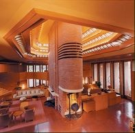Wingspread - Frank Lloyd Wright  Interior view of living room Wind Point Wisconsin 1937