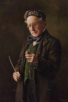 Charles Spencelayh ~ 'A fine specimen', 1917