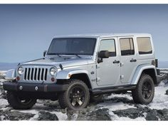 Jeep Wrangler Artic....such a beautiful car. I wish I could afford the gas to drive one of these new wranglers with the matching color tops.