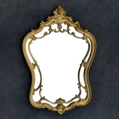 Large Ornate Gold Vintage Mirror - Matte Gold Frame - Victorian - Hollywood Regency - Baroque by TheCherryAttic on Etsy
