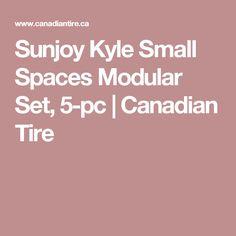 Sunjoy Kyle Small Spaces Modular Set, 5-pc | Canadian Tire