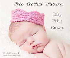 free crochet pattern baby crown