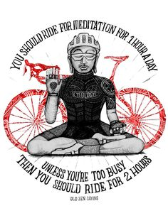Bike Buddha - Original graphic from the creative team at Cycology.