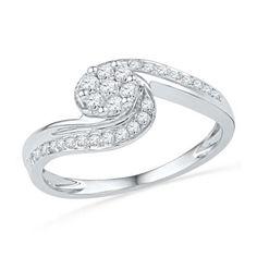 10KT White Gold 0.33CTW DIAMOND Ring