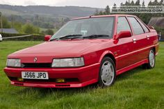 Red Renault 21 Turbo Quadra J566JPO