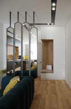 Room Partition Wall, Living Room Partition Design, Room Partition Designs, Hallway Designs, Modern Classic Interior, Contemporary Interior Design, Modern House Design, Living Room Designs, Living Room Decor